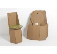 sedia pieghevole in cartone