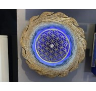 """Lamp """"Swiss-choice: The flower of life"""""""