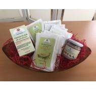 Paket mit Getreidesuppen und Superelixier aus Gemüse