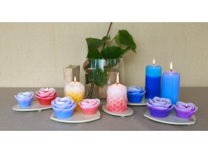 Handcrafted artistic candles